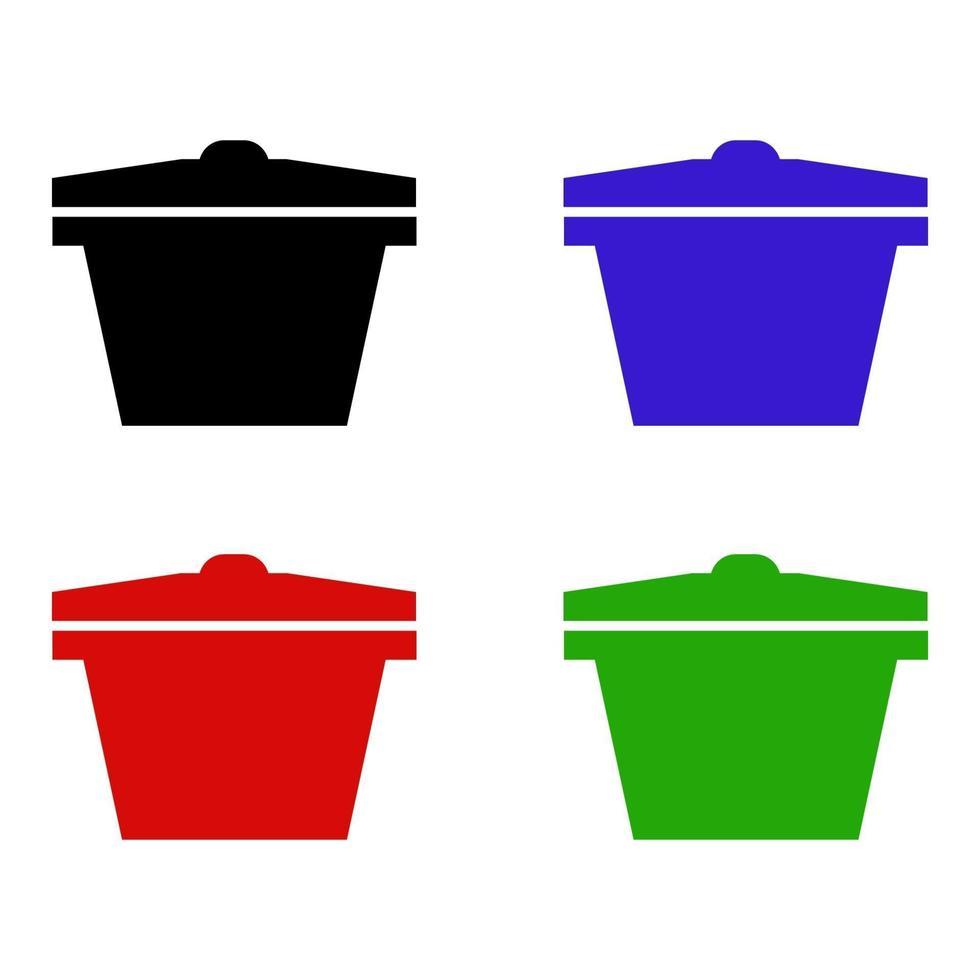 isometrische pot pictogram op achtergrond vector