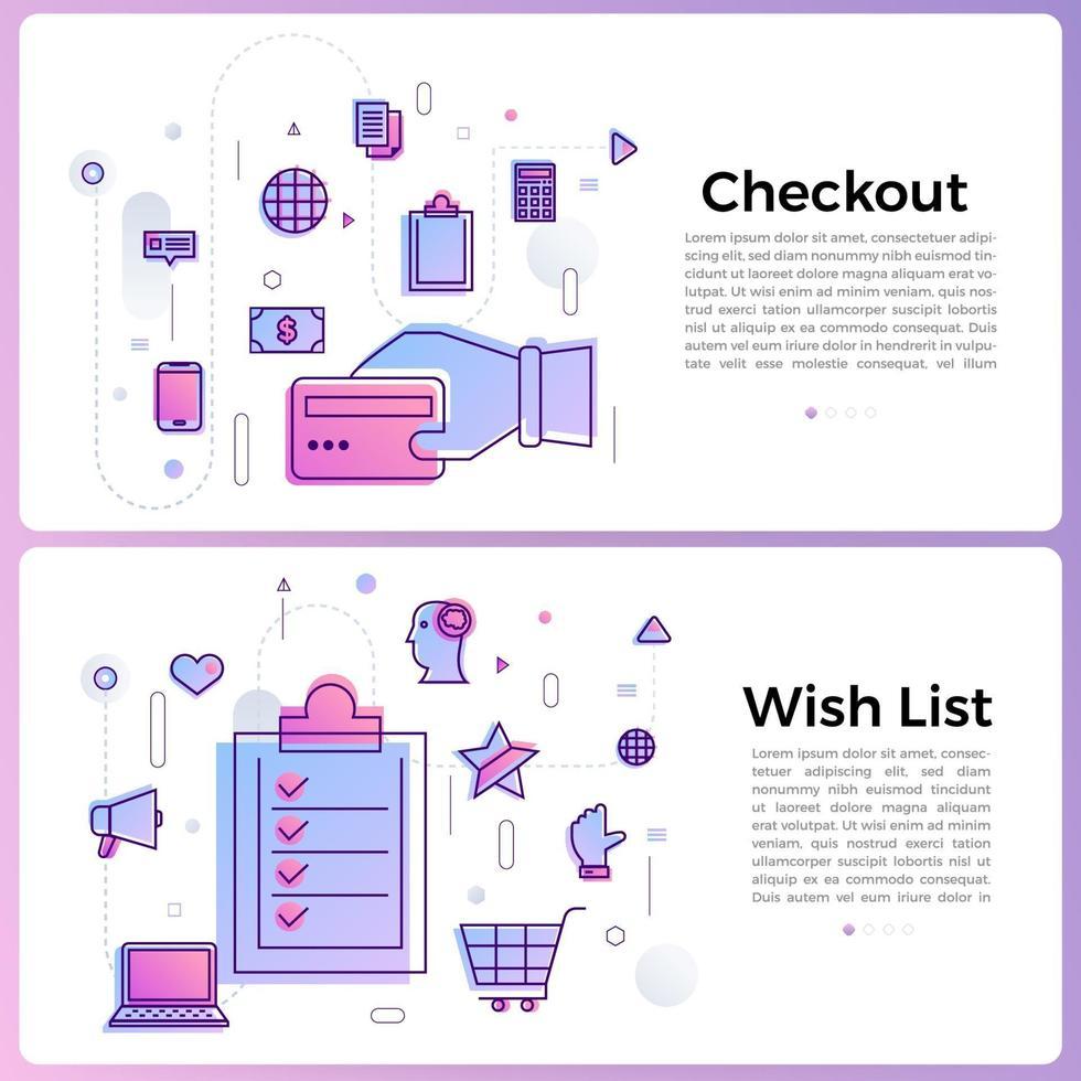 banner illustraties zakelijke overzicht pictogrammen vector