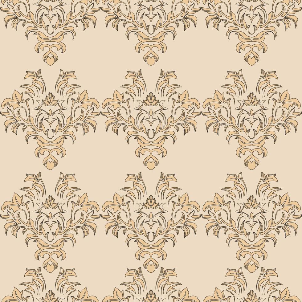 beige romantiek vector naadloze patroon. patroon voor tegels van gordijnen voor behang en kleding.