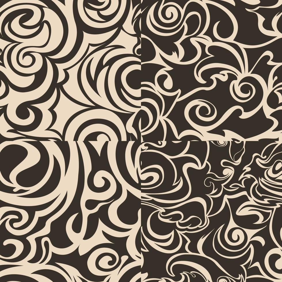 set van naadloze abstracte patronen in beige kleuren. vector