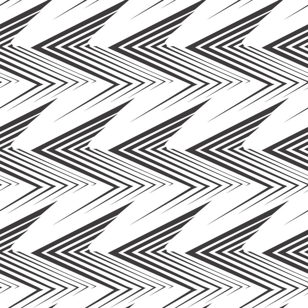 naadloze vector patroon van ongelijke zwarte lijnen getekend met een pen in de vorm van hoeken of zigzag.