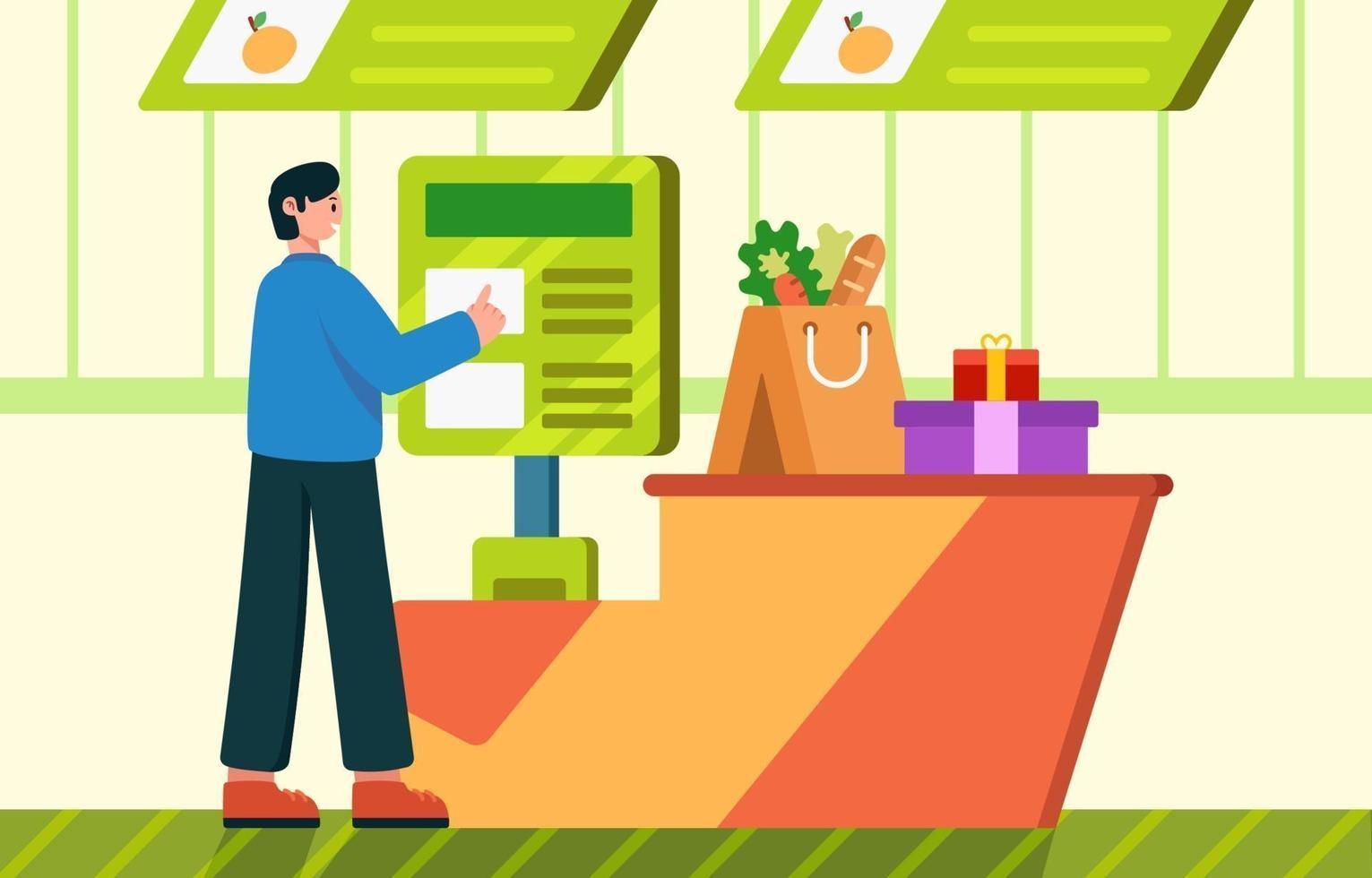 cashless betalingstechnologie concept vector