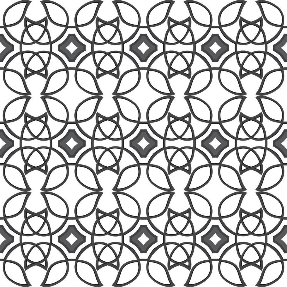 Keltisch zwart etnisch vectorpatroon met rieten elementen. vector