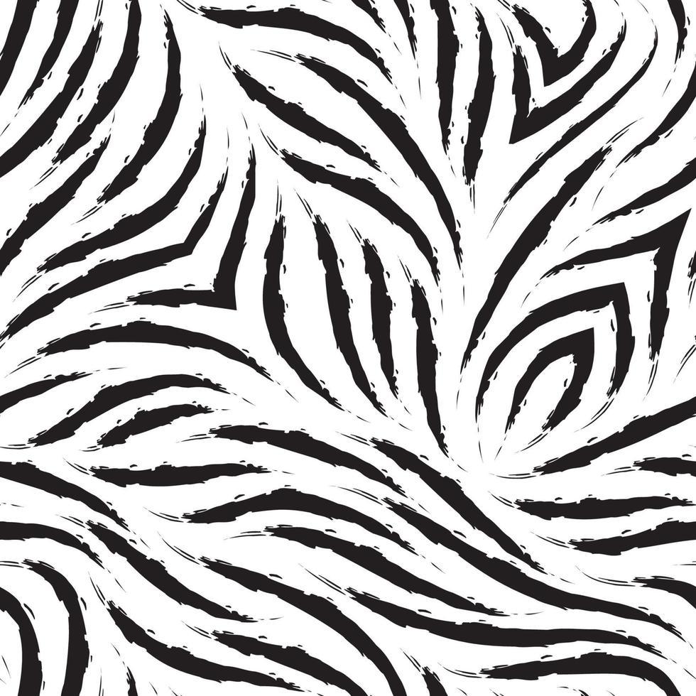 vector zebra huid naadloze patroon. zwart-wit gestreepte vacht textuur.