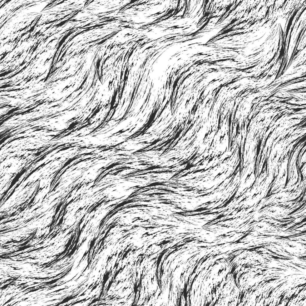naadloze zwart-wit vector patroon van spatten en penseelstreken. zwarte textuur op een witte achtergrond.