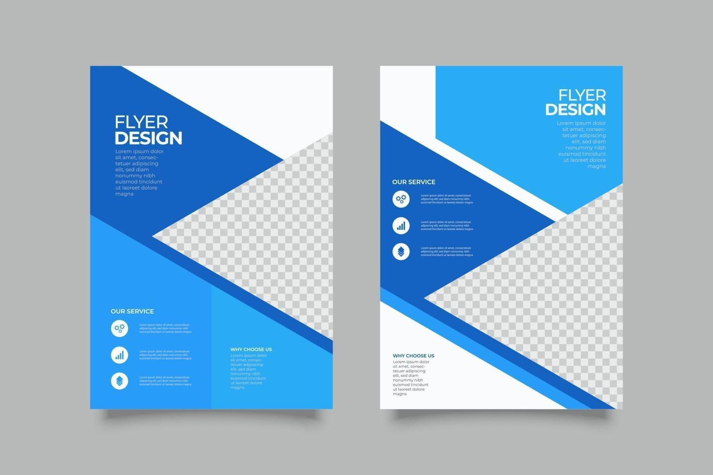 webinar blauwe zee folder sjabloon met vormen vector