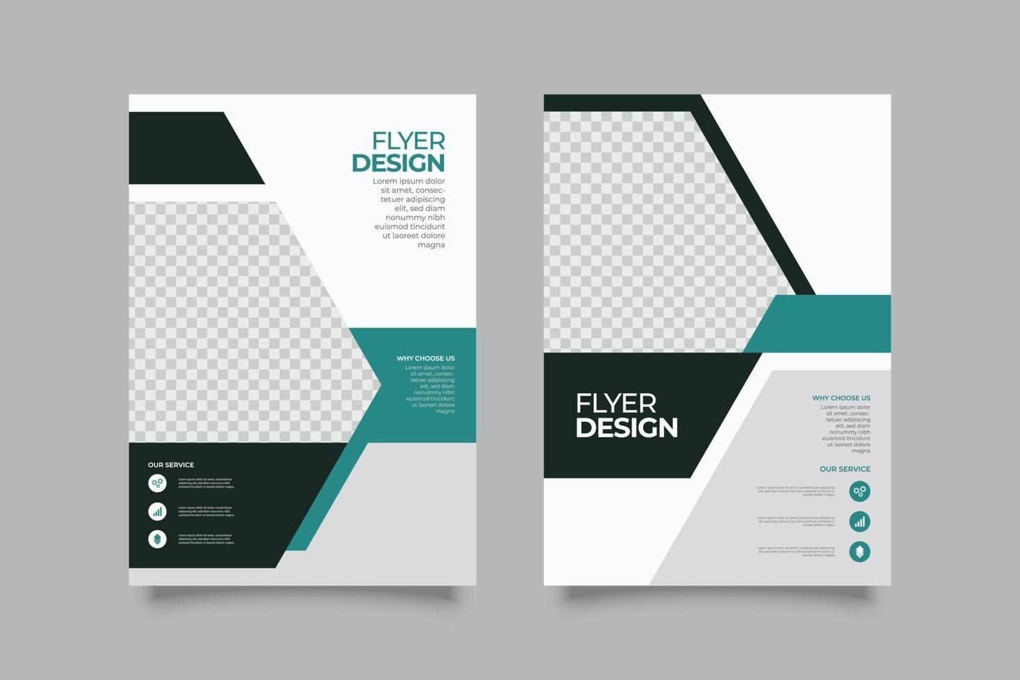 zakelijke en verkoop flyer-sjabloon met vormen vector