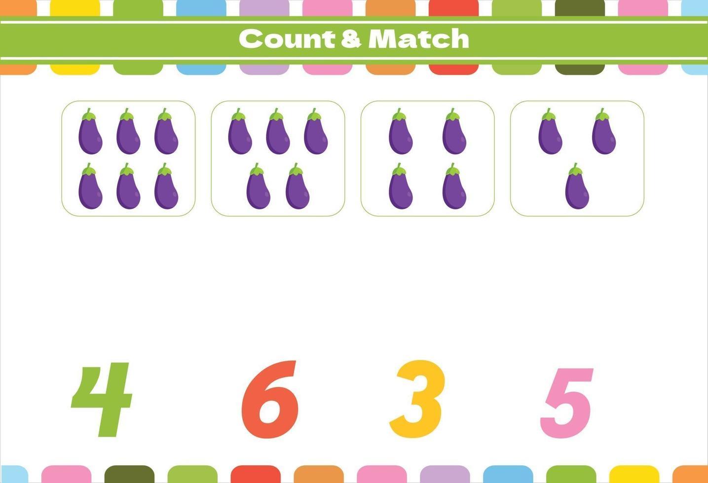 tellen spel voor voorschoolse kinderen vector