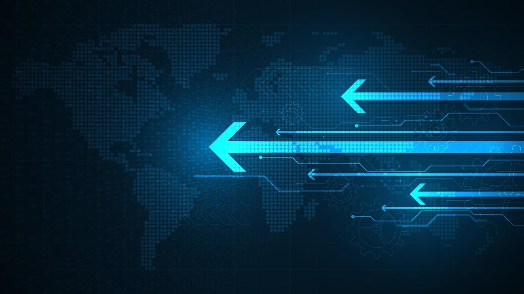 toegang tot grote hoeveelheden gegevens met hoge snelheden. vector