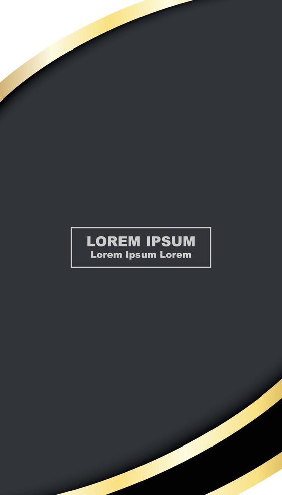 abstracte luxe zwarte kaart met gouden geschenkbogen vector