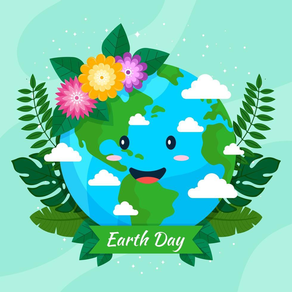 gelukkig aardedag ontwerp vector