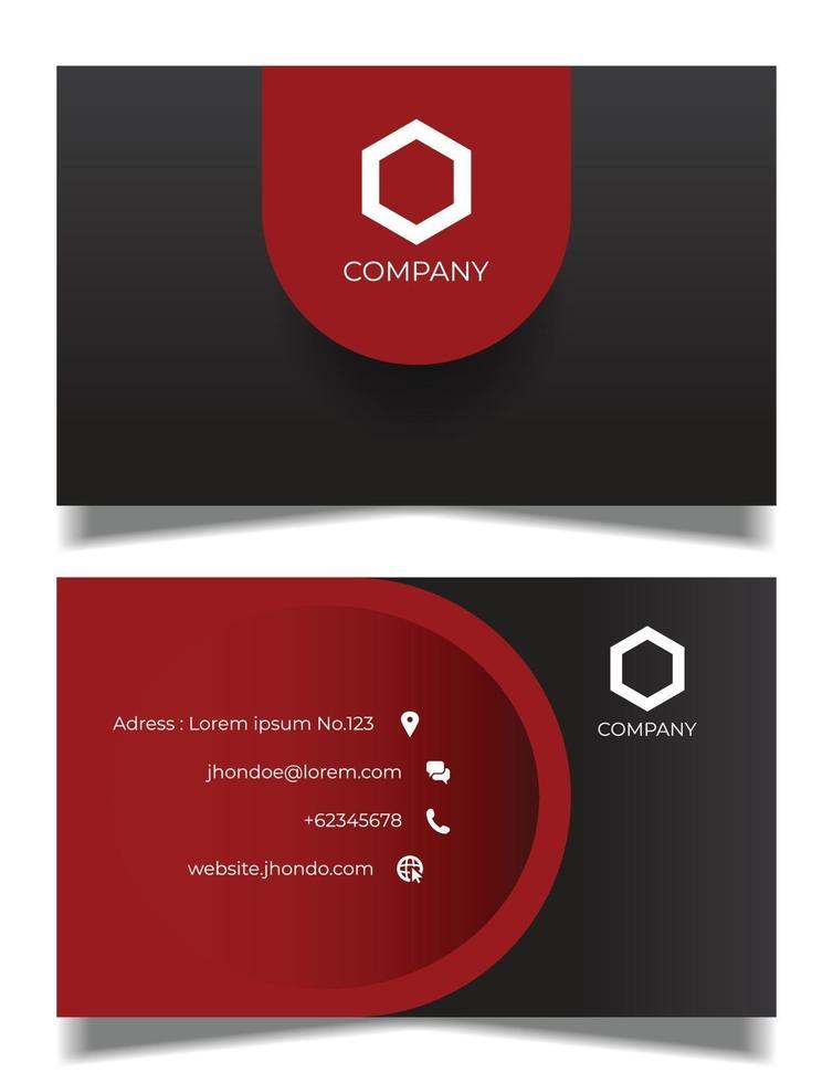sjabloon voor professioneel visitekaartje, grijs en rood visitekaartje vector