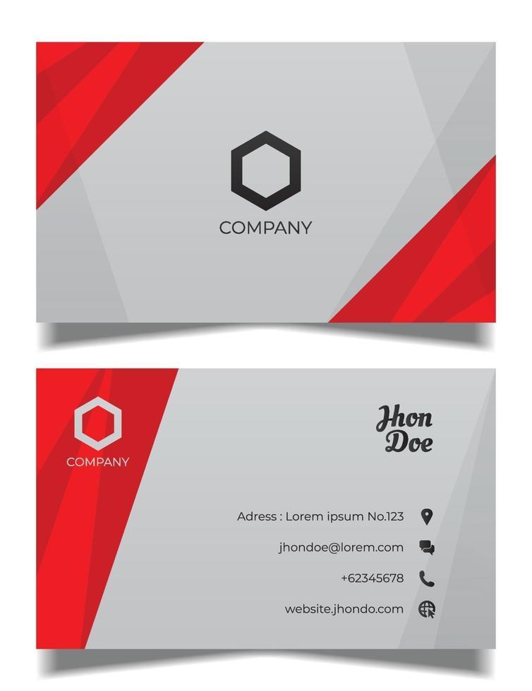 sjabloon voor professionele visitekaartjes, rood en zwart visitekaartje vector