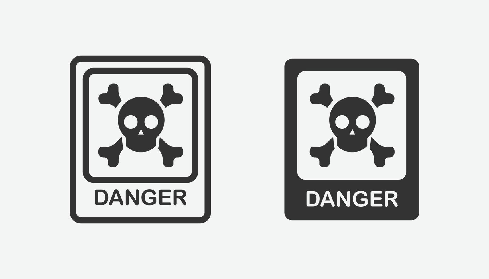 set van gevaar iconen. aandacht symbool geïsoleerde vector
