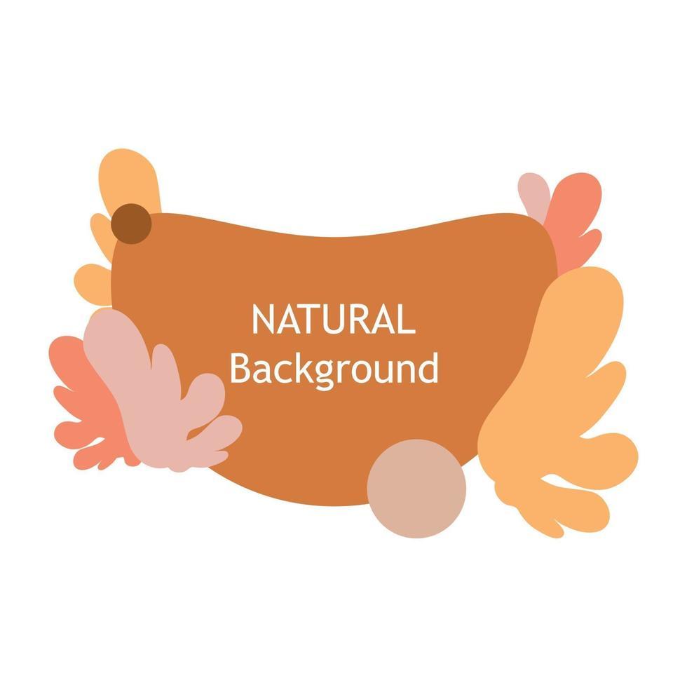 decoratieve natuurlijke illustratie. perfect voor ontwerpprojecten, achtergrond, post op sociale media, banner vector