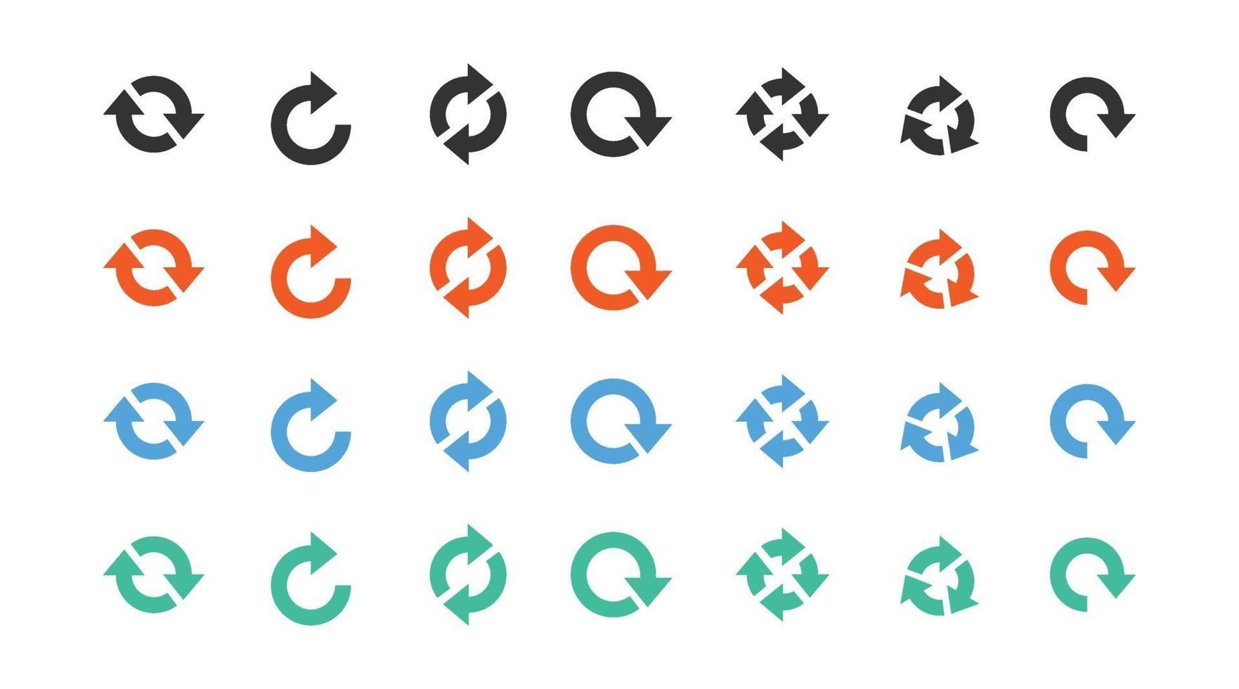 set van verschillende pijl teken pictogram vector