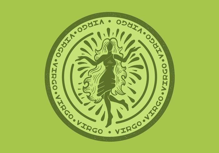 Maagd sterrenbeeld badge vector