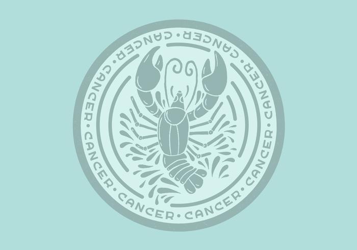 kanker dierenriem badge vector