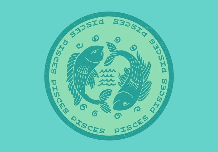 vissen vis dierenriem kenteken vector