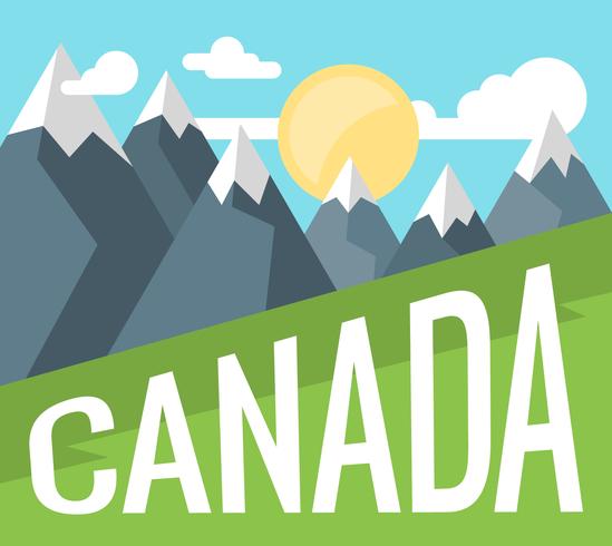 Canada landschap vector