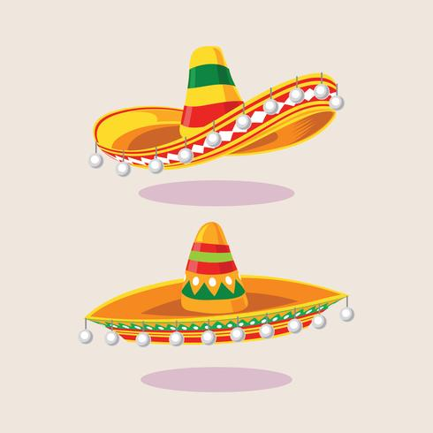 Illustratie van Set Sombrero Hat vector