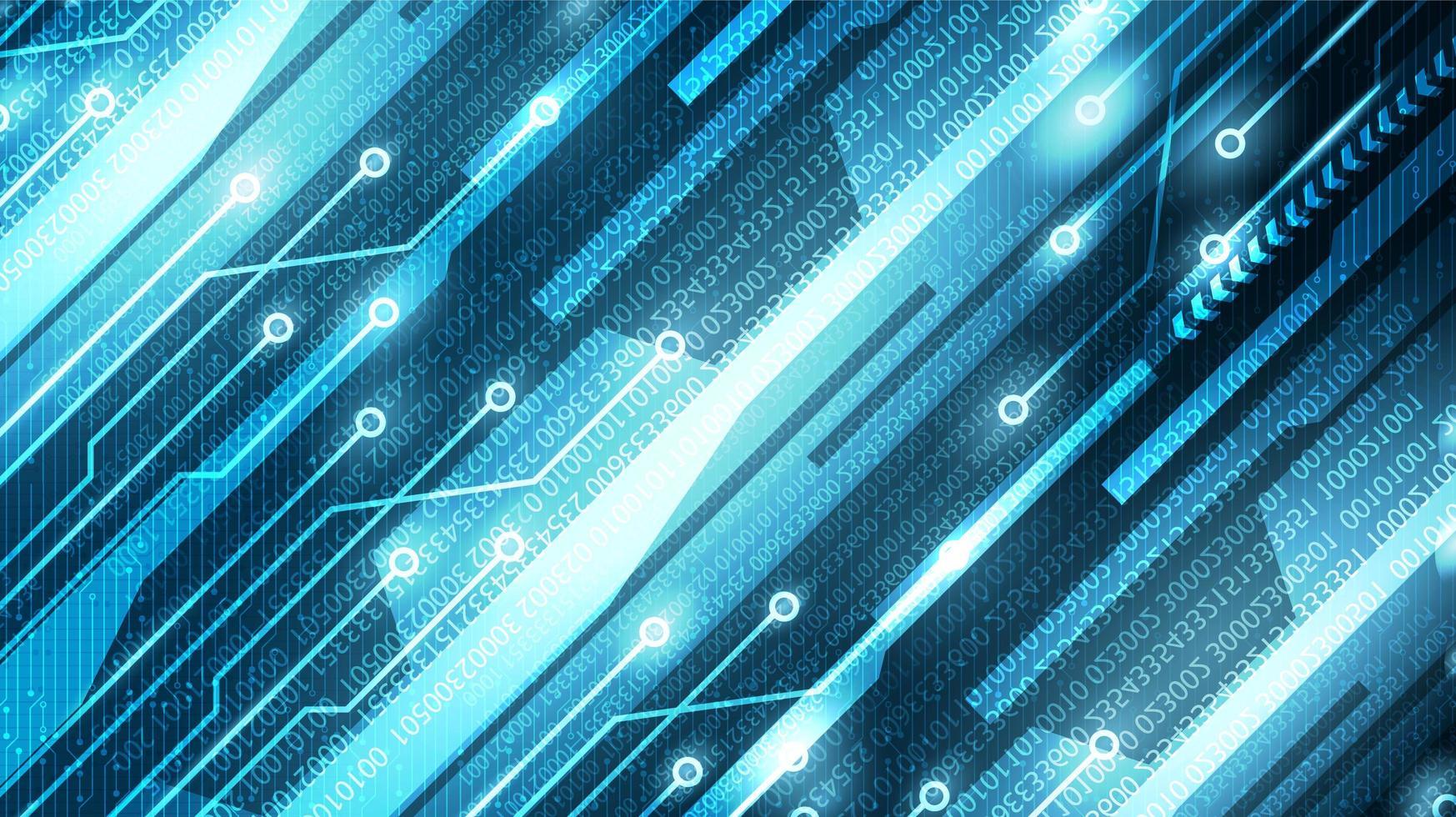 digitale cybertechnologie op toekomstige achtergrond, hi-tech digitaal en communicatie conceptontwerp, vrije ruimte voor tekst vector