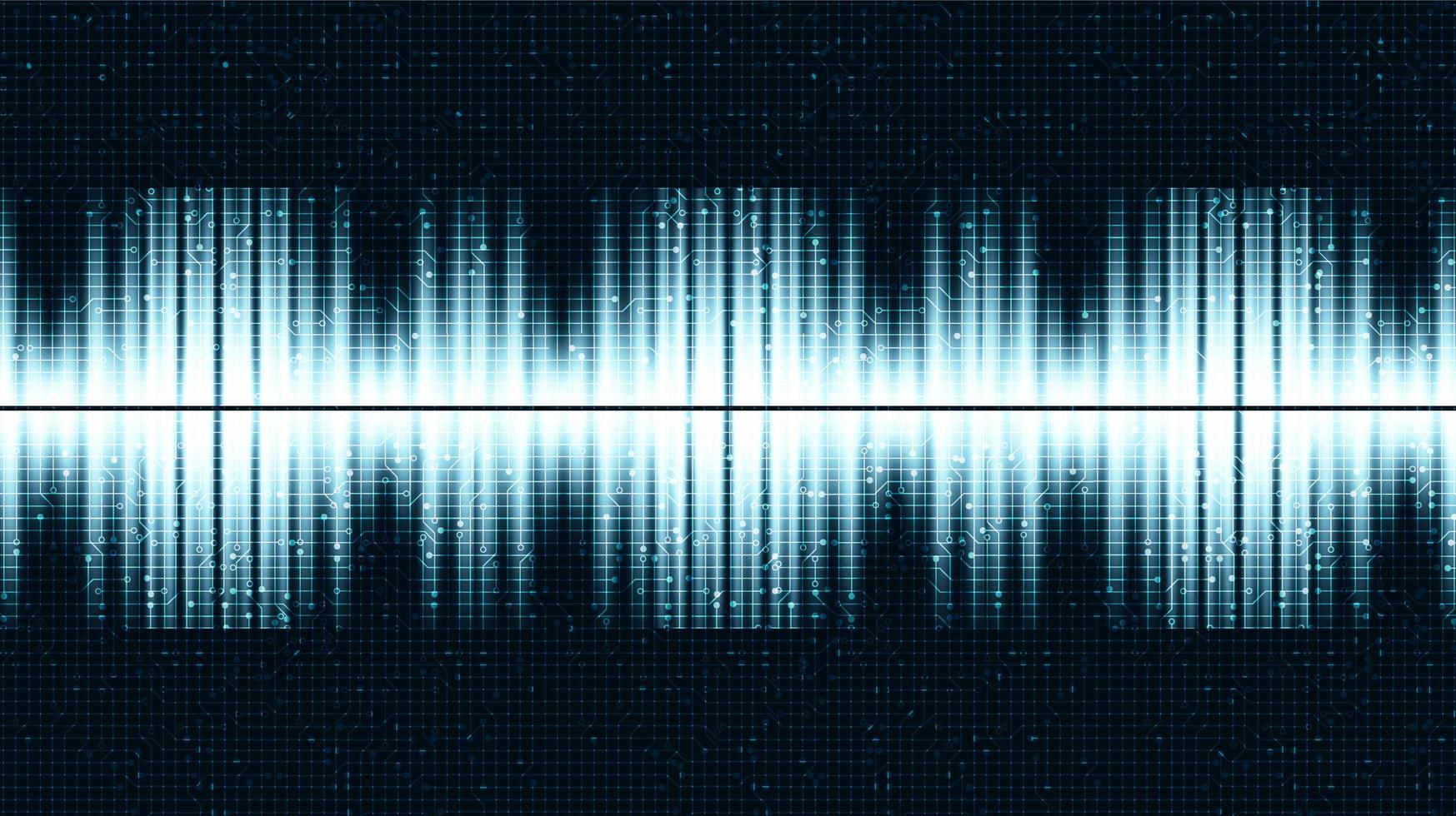 ultrasone geluidsgolf achtergrond vector
