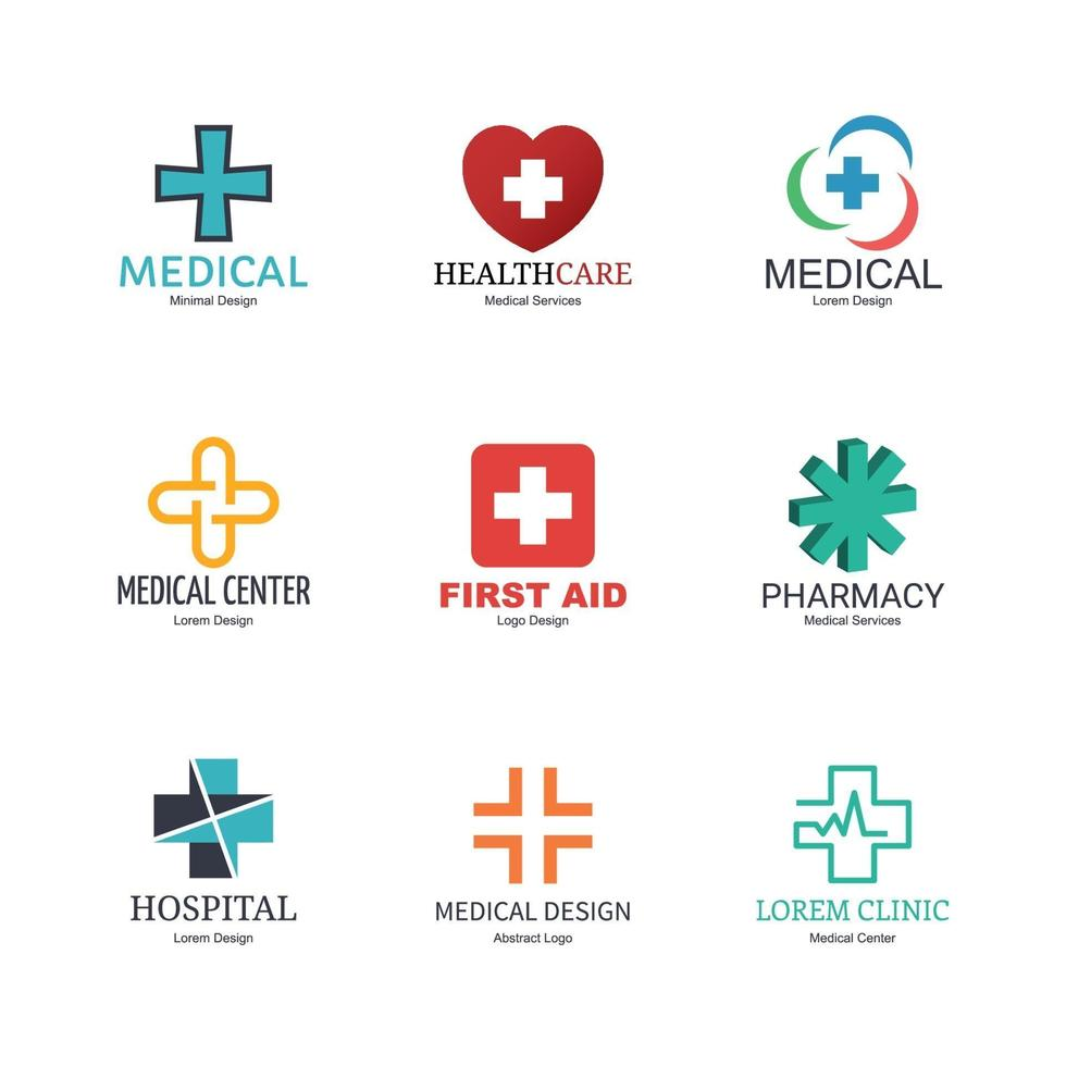 medisch logo ontwerp vector
