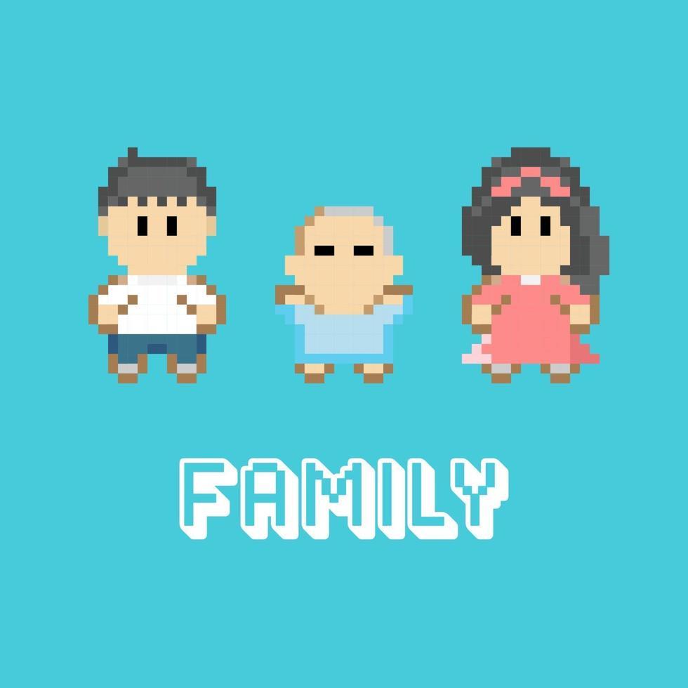familie pixel ontwerp vector