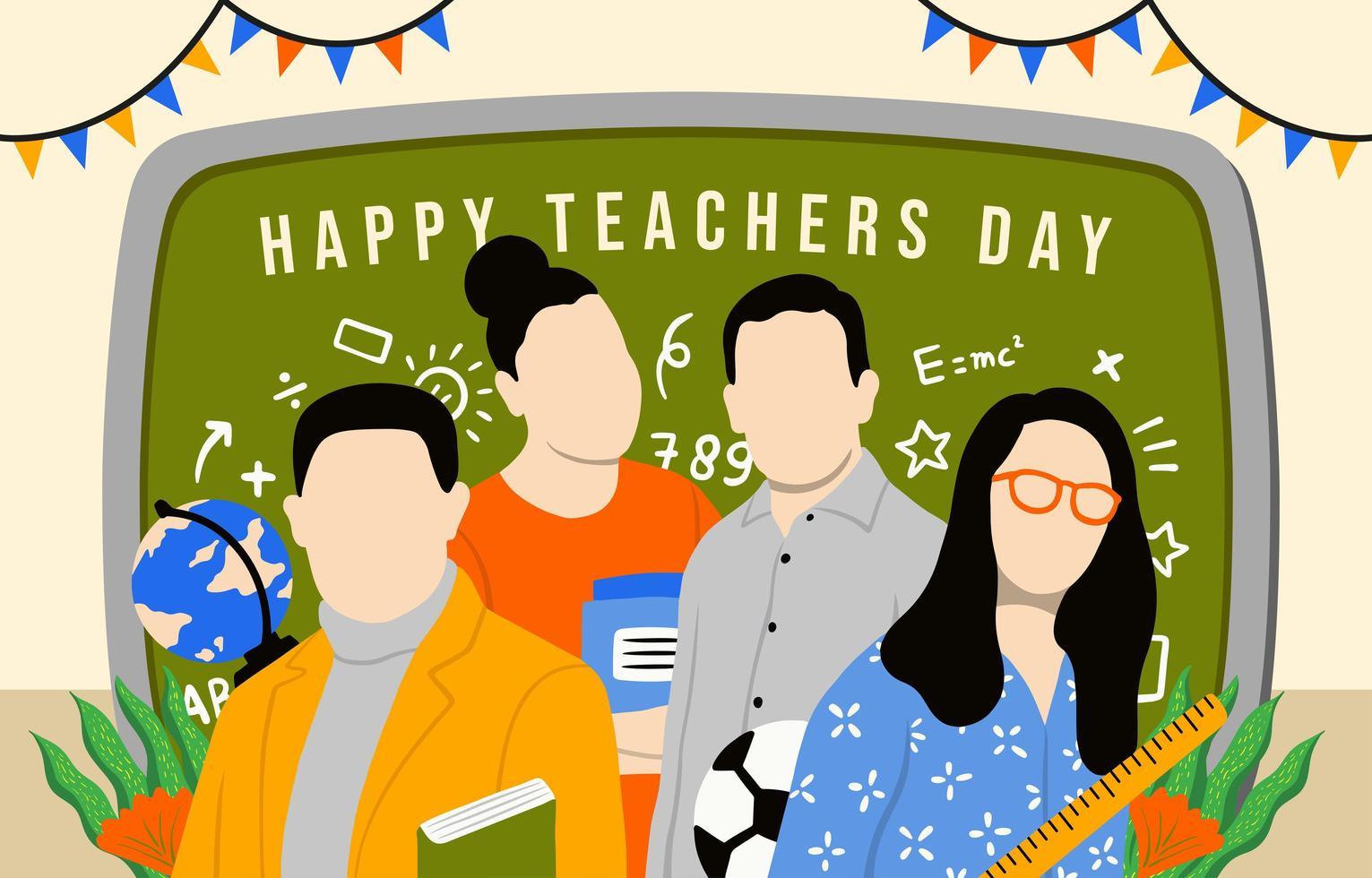 gelukkige viering van de lerarendag vector
