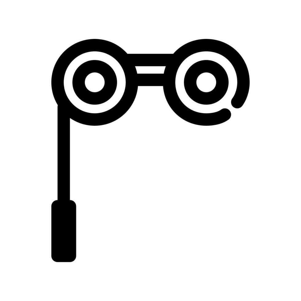 verrekijker overzicht pictogram. element uit de set gewijd aan het theater. vector