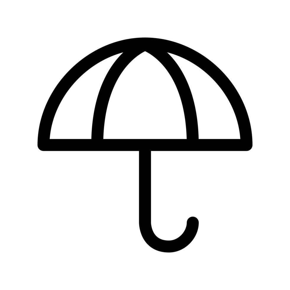 paraplu overzicht pictogram. zwart-wit item uit set toegewijde weater, lineaire vector. vector