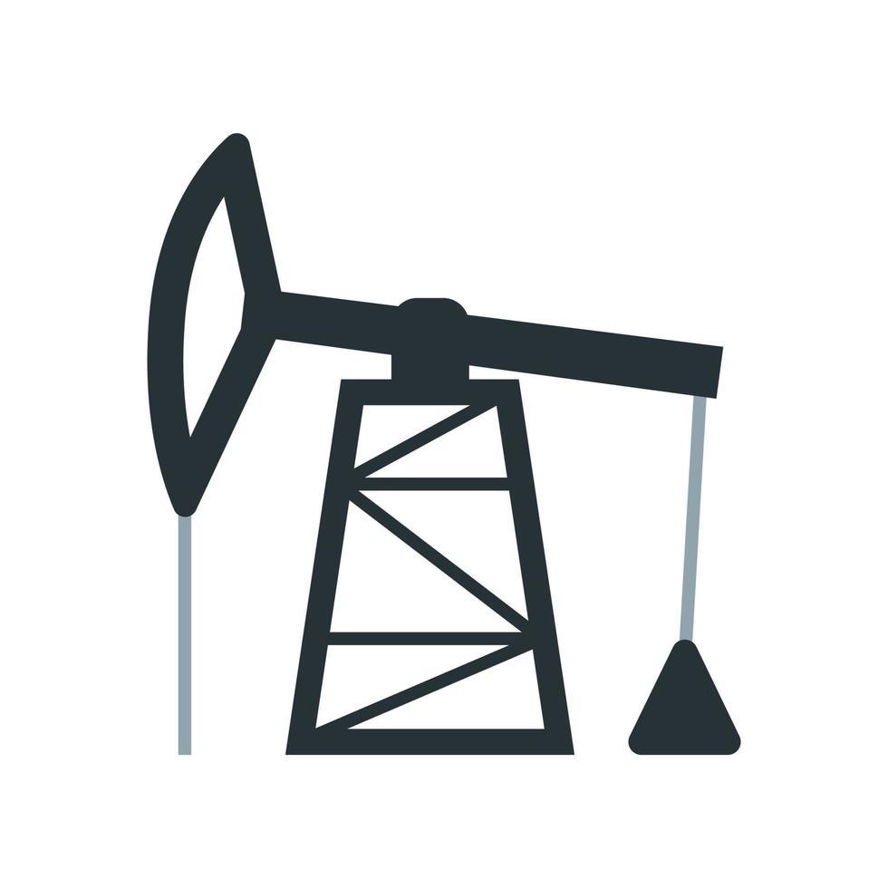 olieproductie pictogram. element uit de set gewijd aan olie- en gasproductie, verwerking en transport. vector