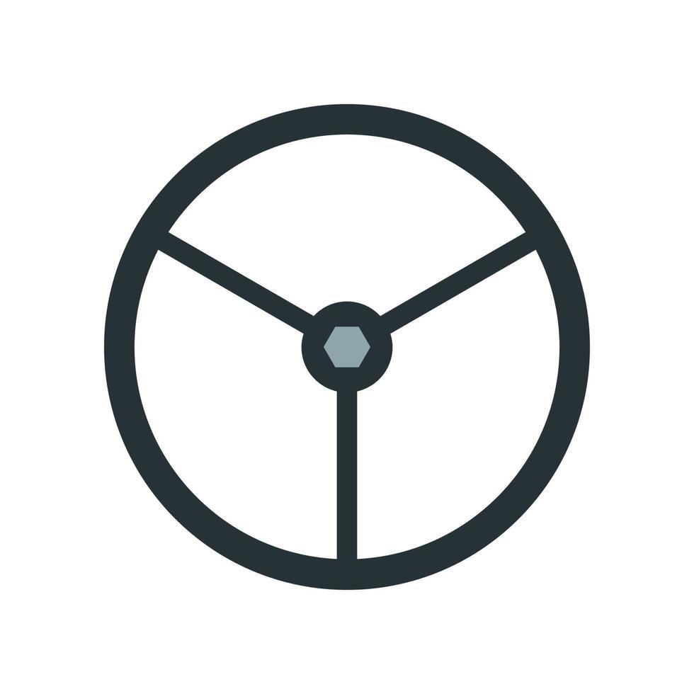 olie pijp klep pictogram. element uit de set gewijd aan olie- en gasproductie, verwerking en transport. vector