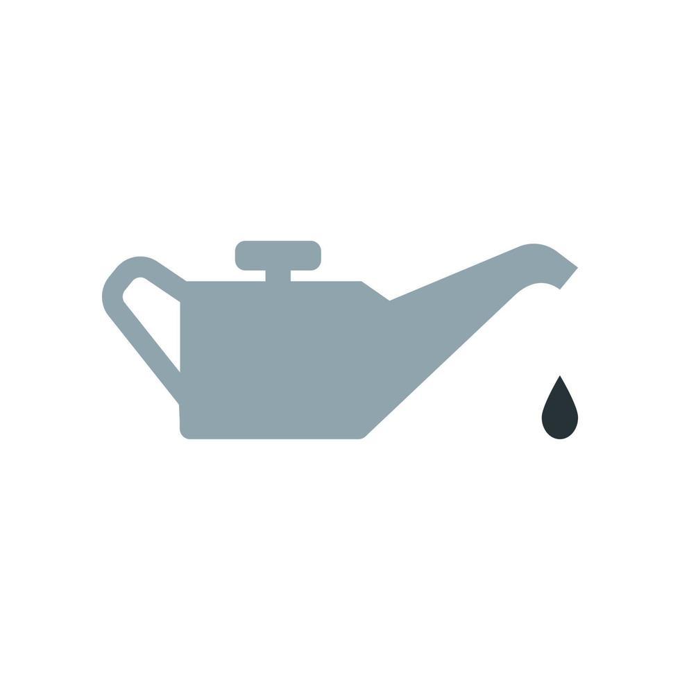 olie kan pictogram. element uit de set gewijd aan olie- en gasproductie, verwerking en transport. vector