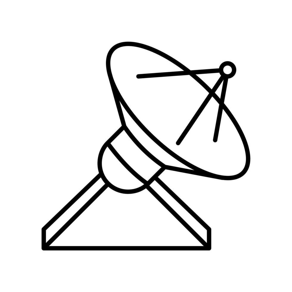 locator overzicht pictogram. zwart-wit vector item uit set, gewijd aan wetenschap en technologie.