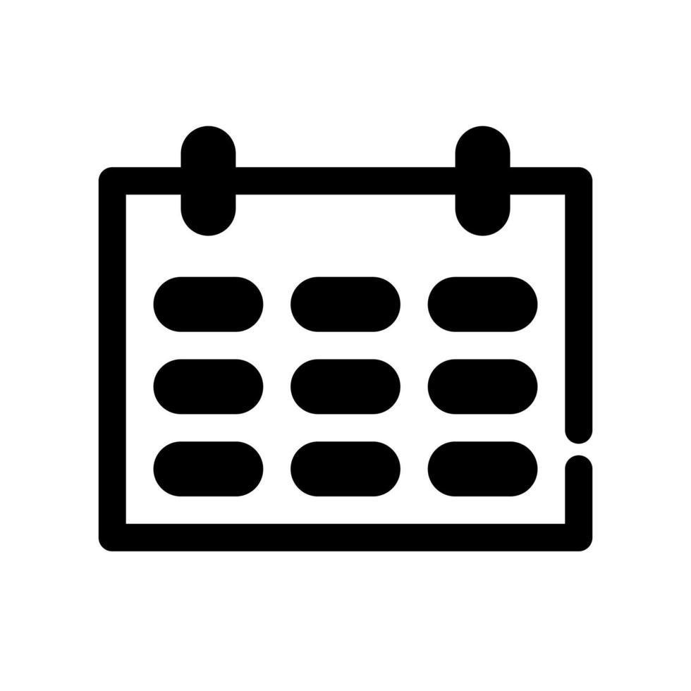 overzicht kalenderpictogram. het item van set-specifieke marketing, evenals aanverwante goederen en diensten. onderbroken lijnen vector. vector