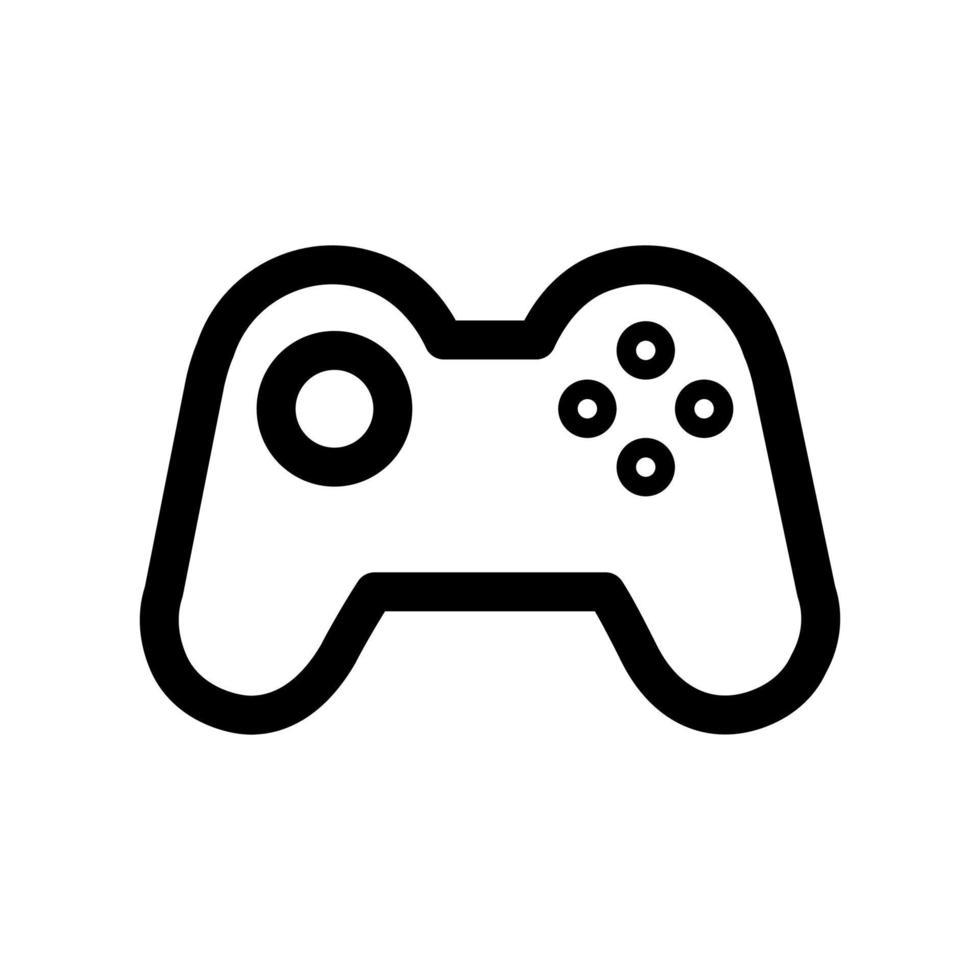 gamepad overzicht pictogram. zwart-wit item uit set speciale computers en kantoorapparatuur, lineaire vector. vector
