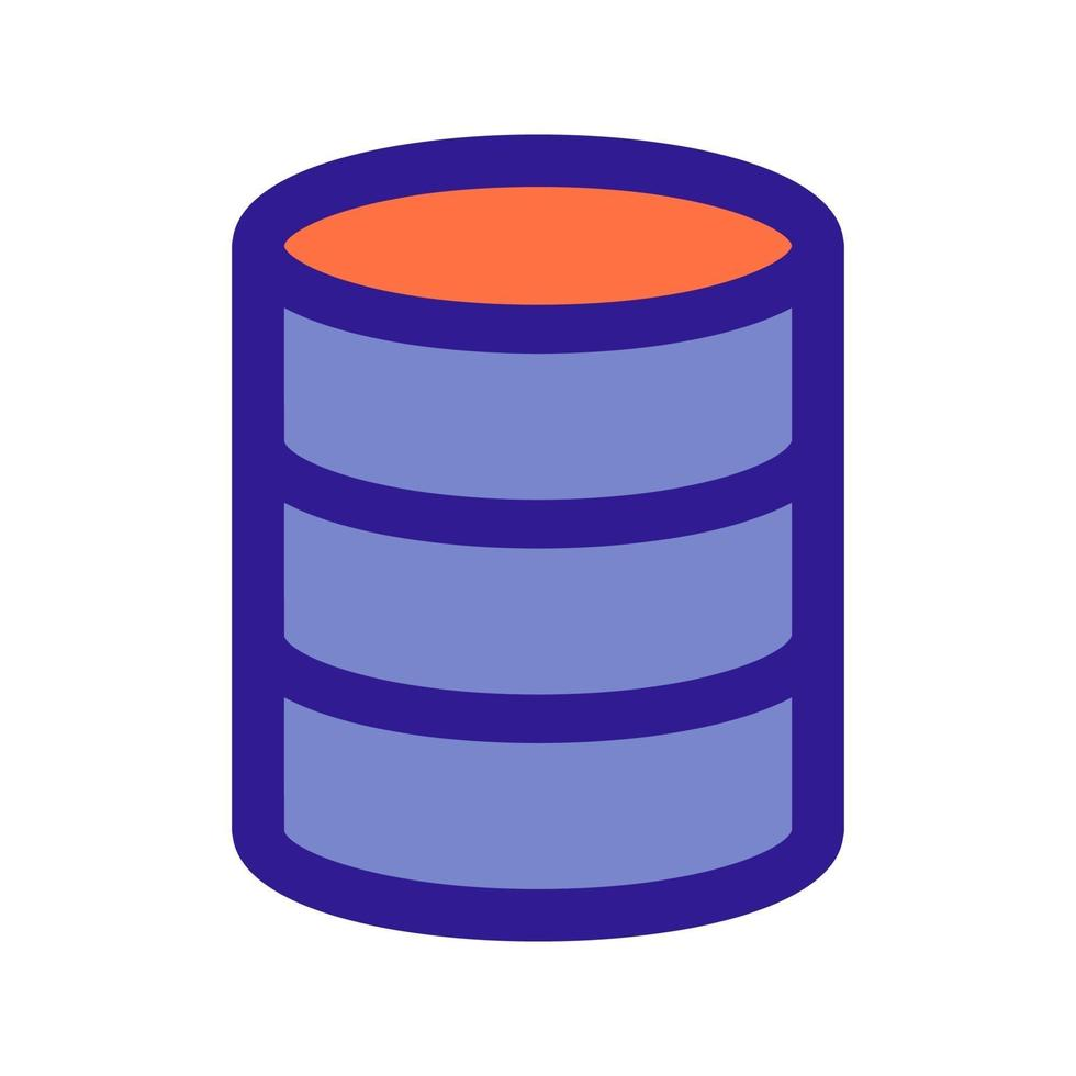 database overzicht pictogram. vectoritem uit de set, gewijd aan big data en machine learning. vector