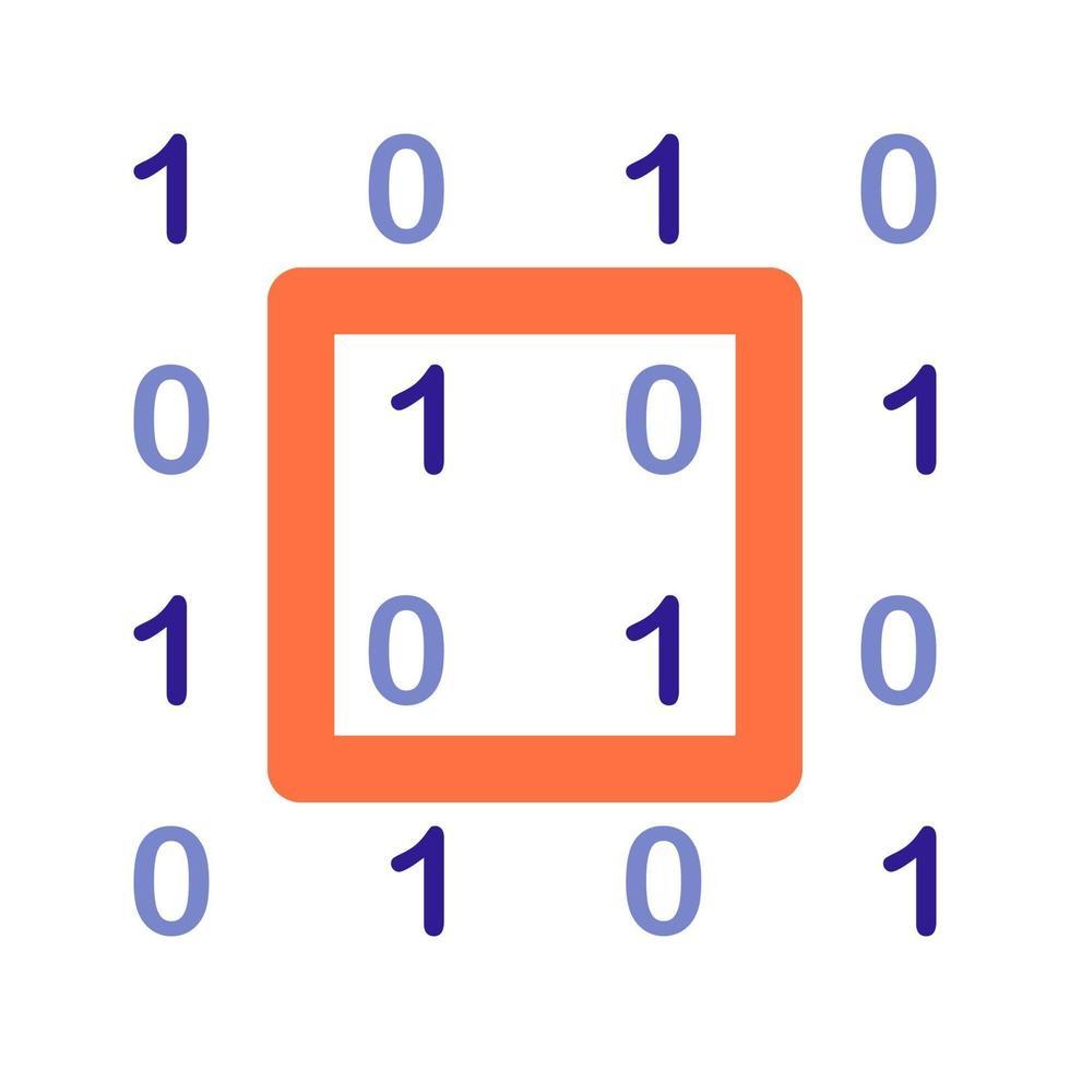 binaire code overzicht pictogram. vectoritem uit de set, gewijd aan big data en machine learning. vector