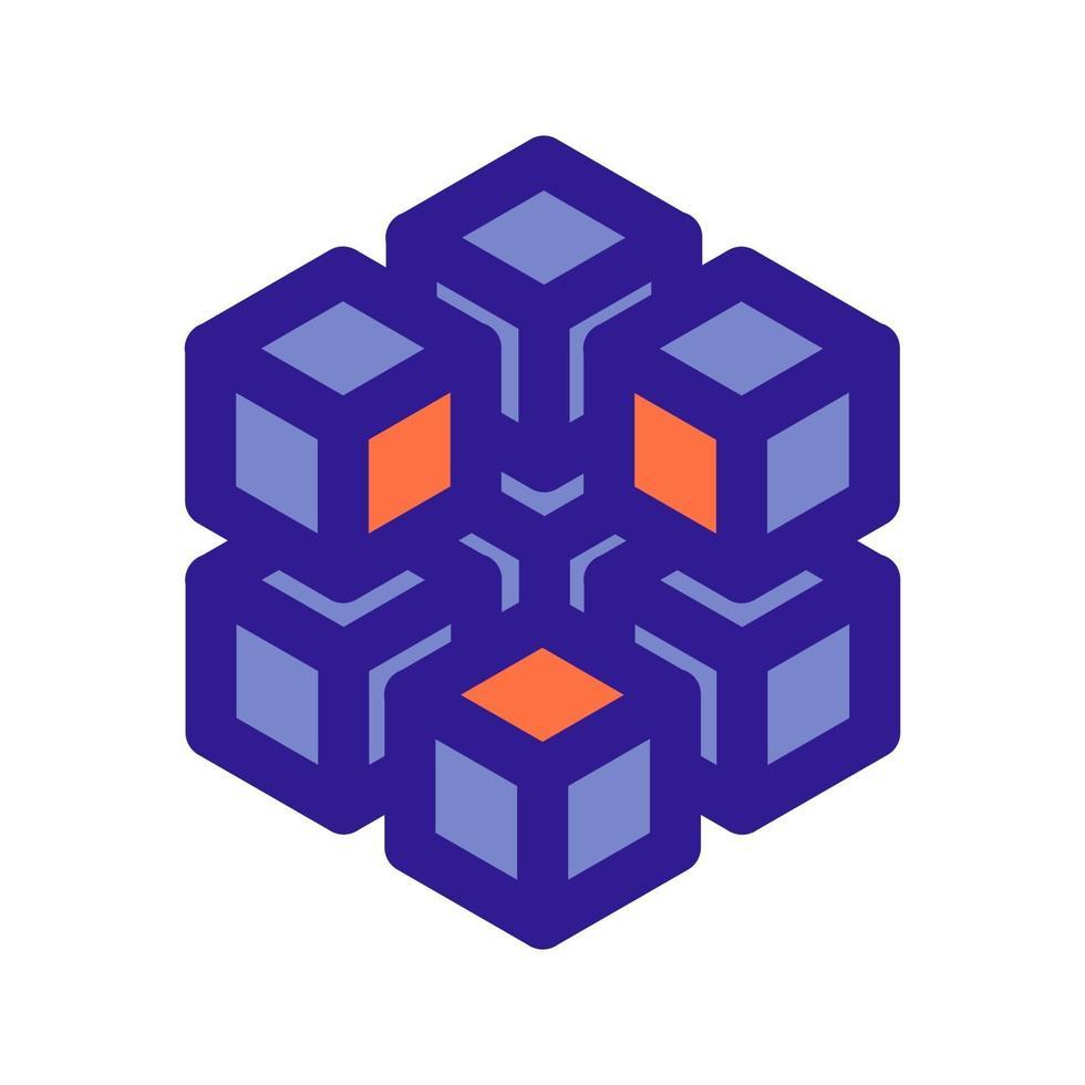 3D-array overzicht pictogram. vectoritem uit de set, gewijd aan big data en machine learning. vector