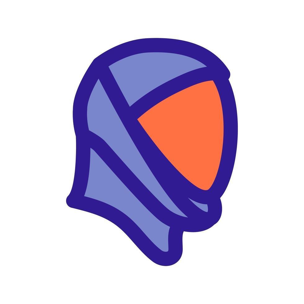 ruimte helm overzicht pictogram. nieuw astronautenuniform. ruimte symbool vector