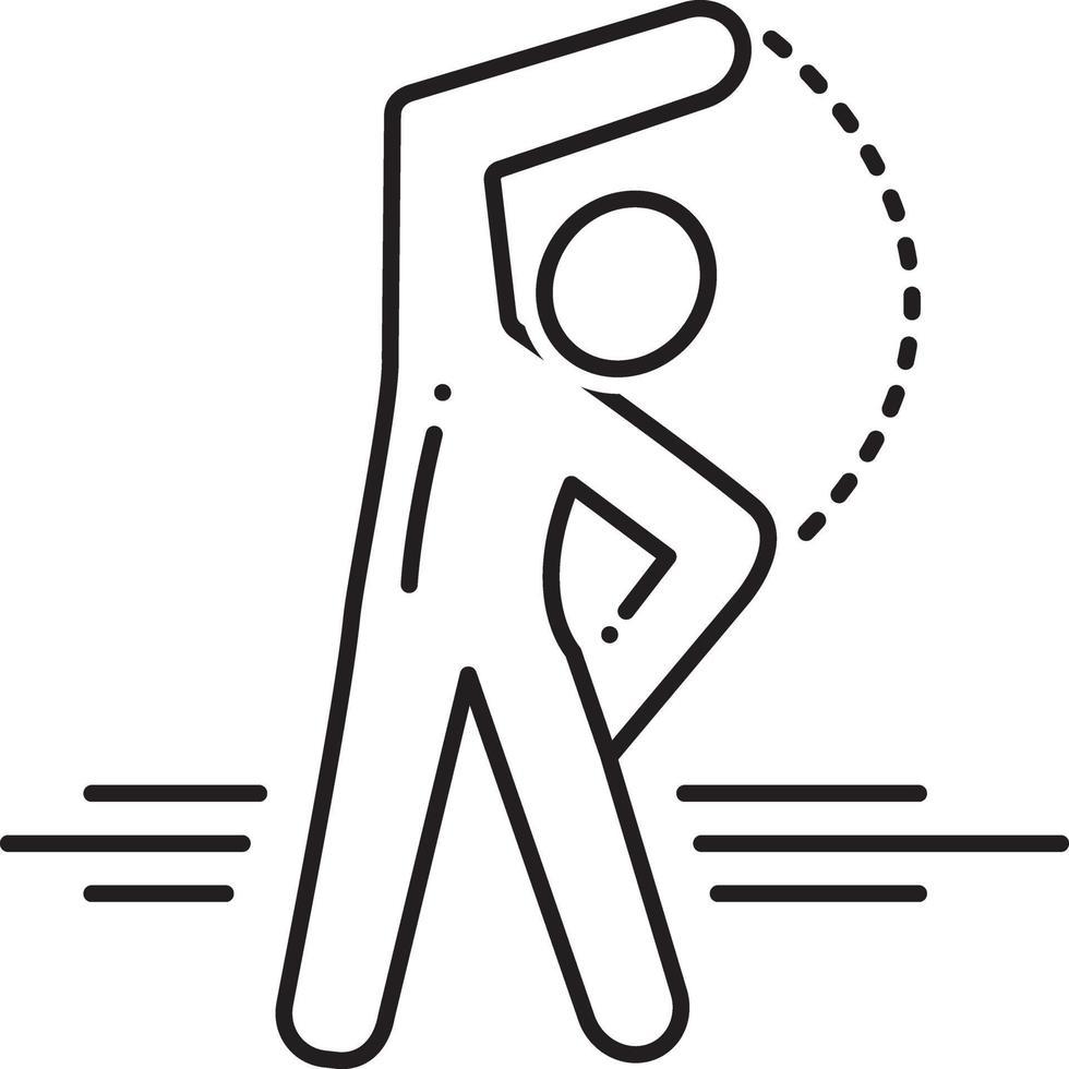 lijn pictogram voor oefening vector