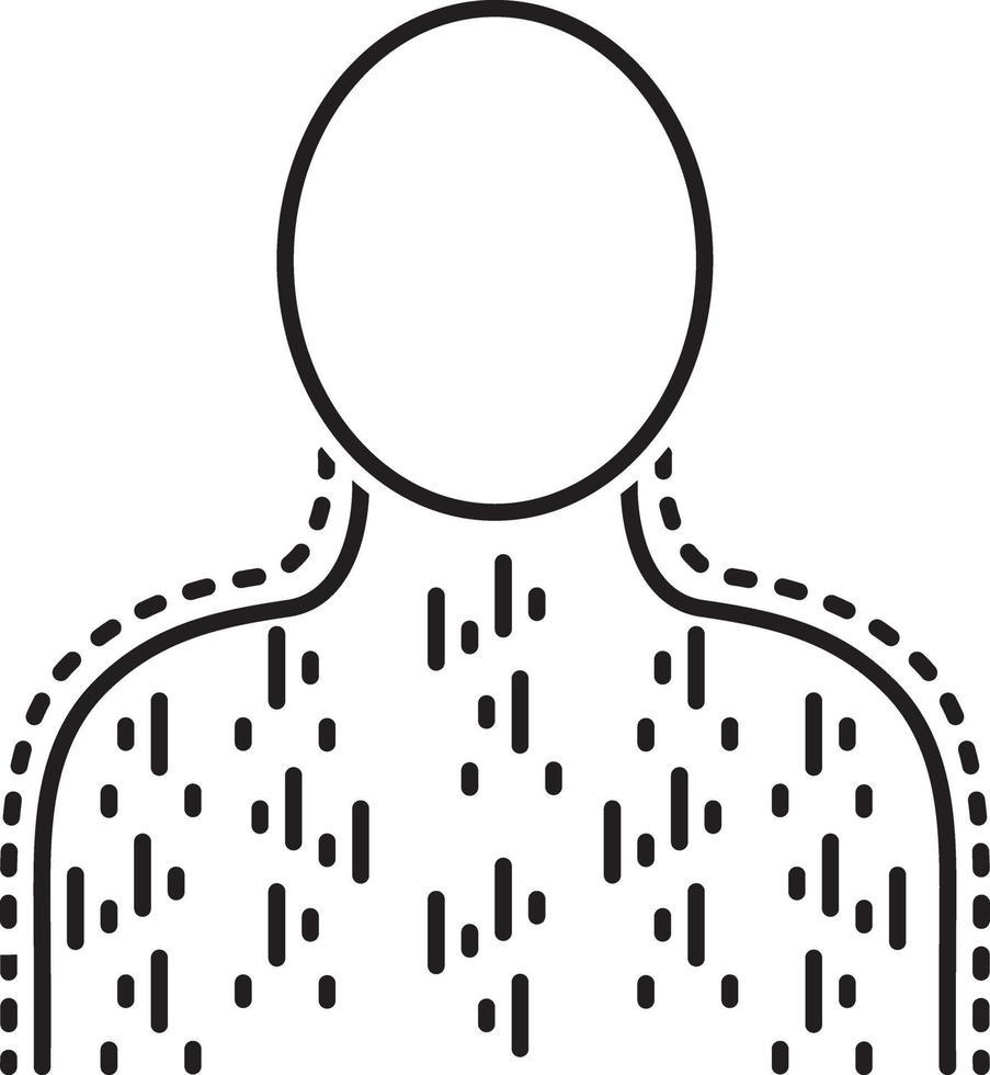 lijn pictogram voor uitslag vector