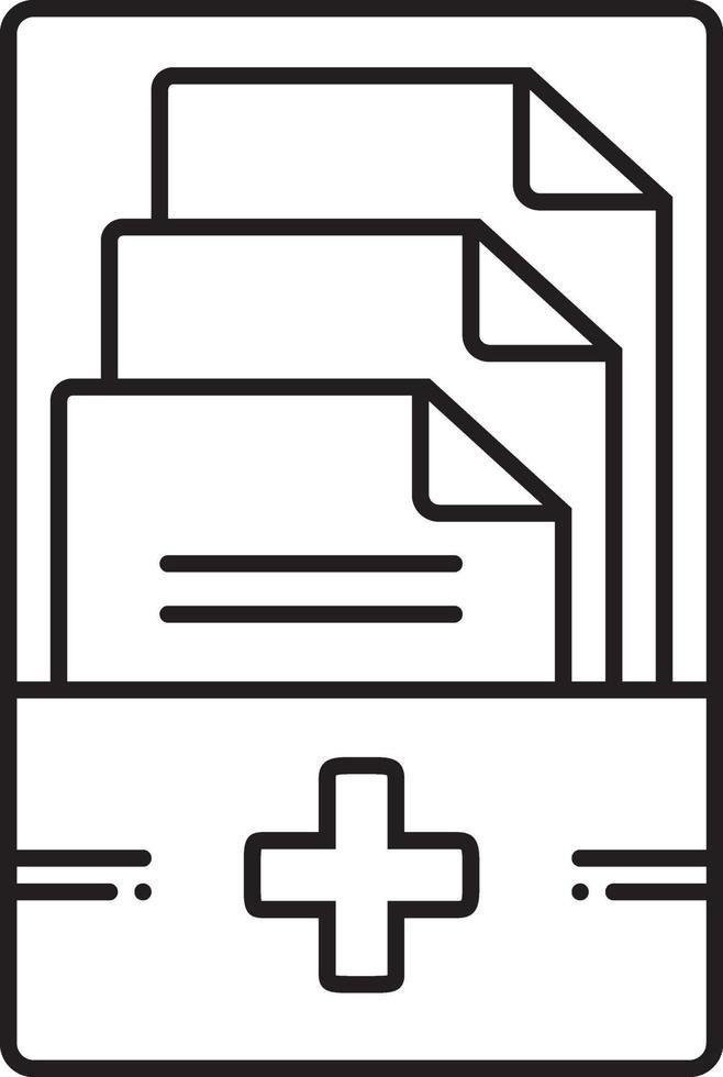 lijnpictogram voor medische dossiers vector