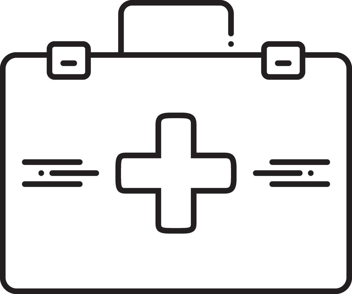 lijn pictogram voor dokterstas vector
