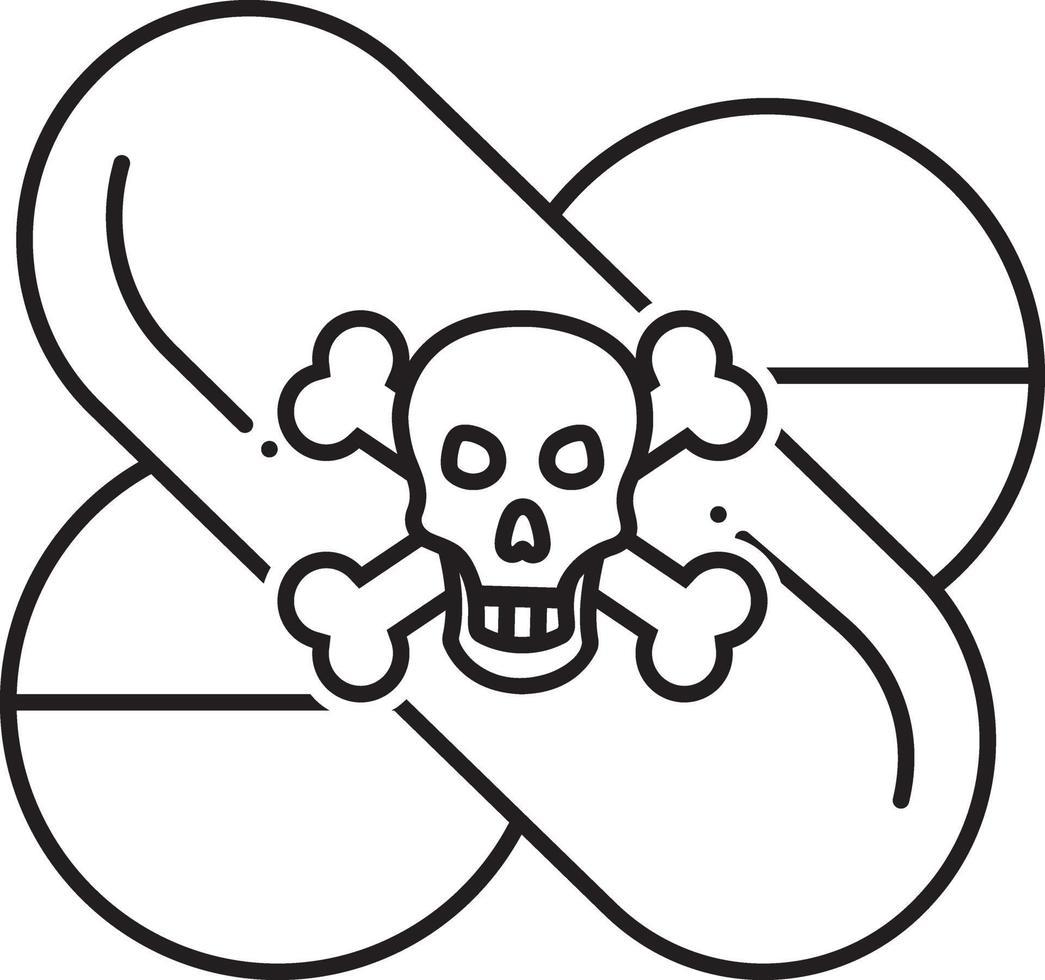 lijnpictogram voor gevaarlijke drug vector