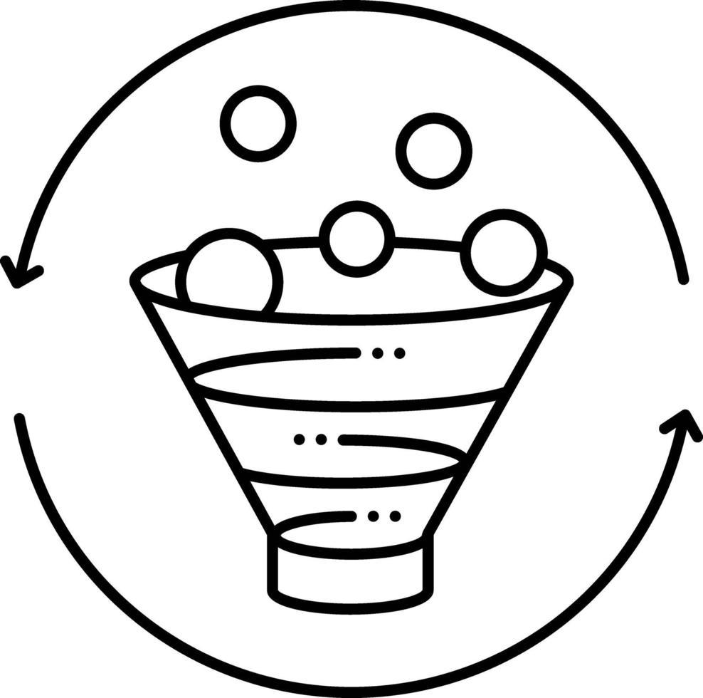lijnpictogram voor conversiemarketing vector
