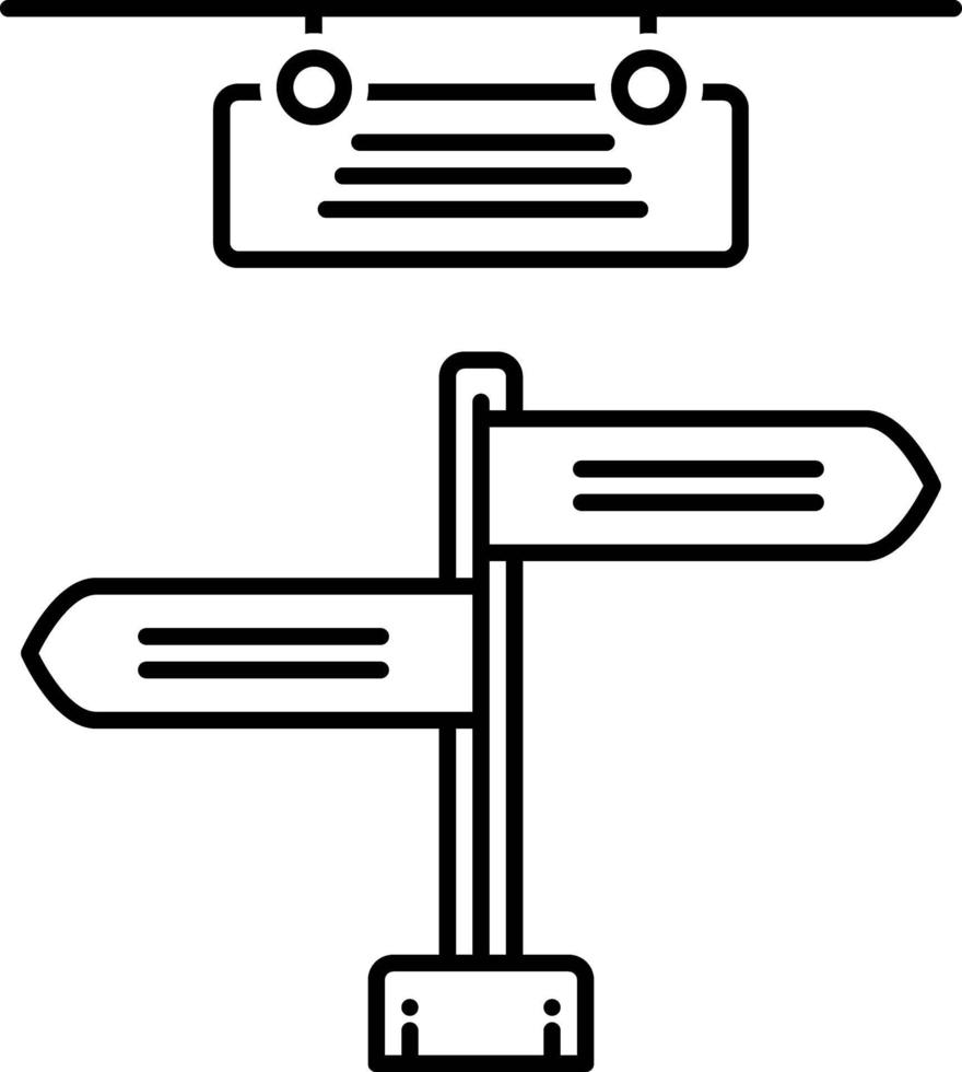 lijn pictogram voor uithangbord vector