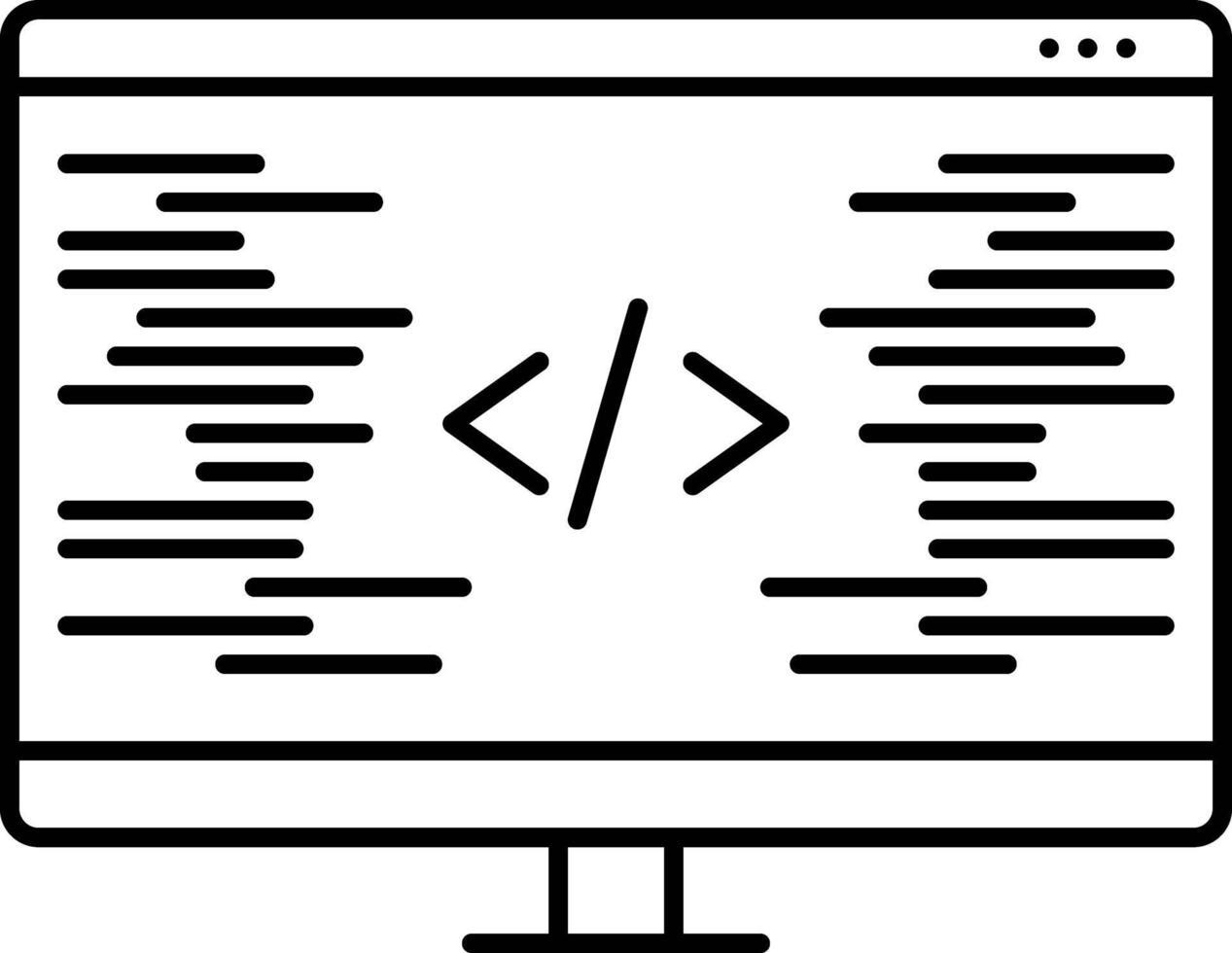 lijnpictogram voor codering vector